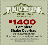 Timberline Roofing coupon